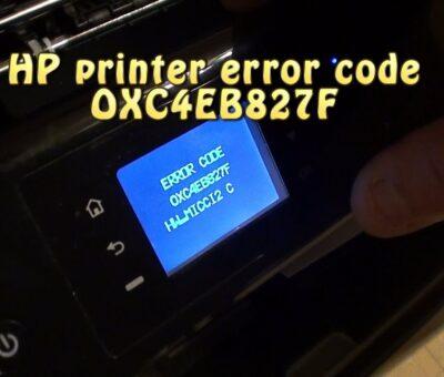 HP Printer Error Code Oxc4eb827f