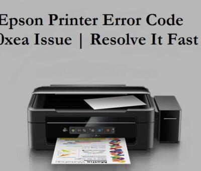 Epson Error Code 0xea