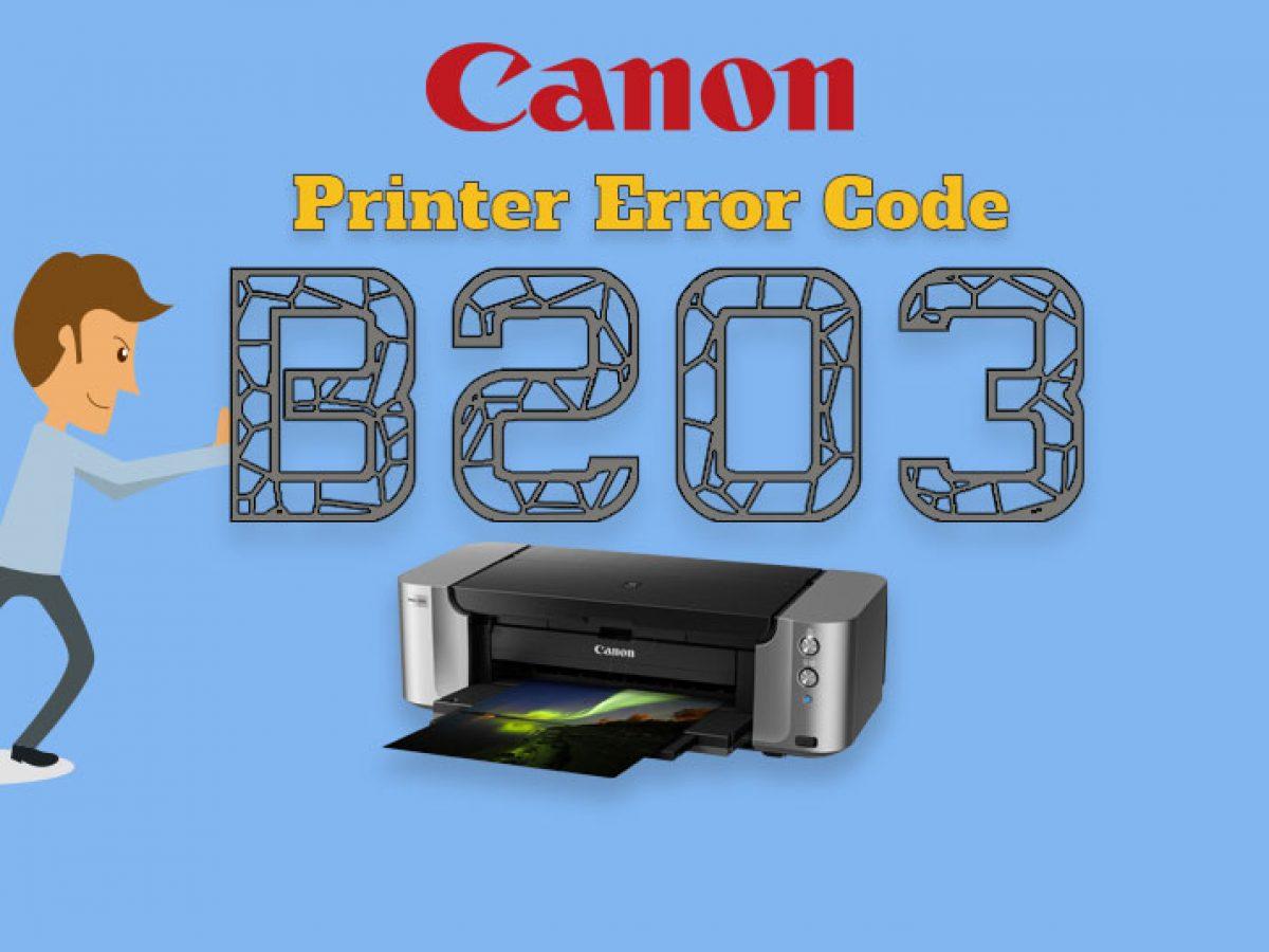 Canon Printer Error B203