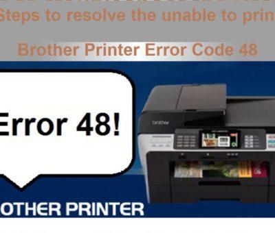 Brother Printer Error Code 48