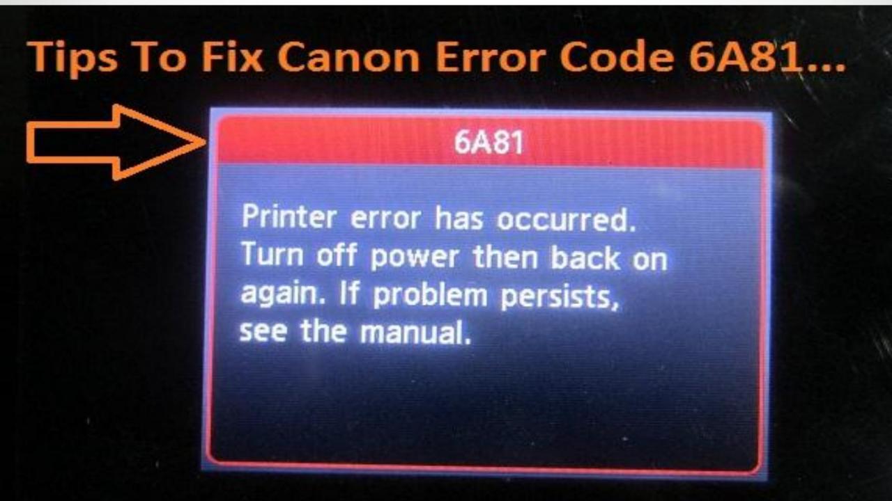 Canon Error Code 6a81