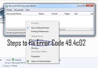 HP Printer Error 49.4c02