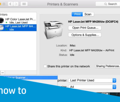 SetUp Hp Wireless Printer On Mac