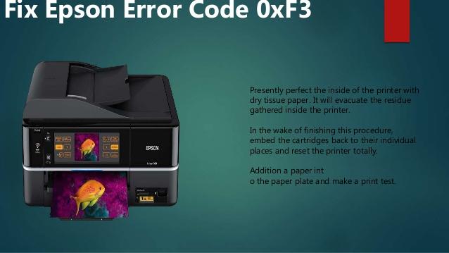Epson Error Code 0xf3