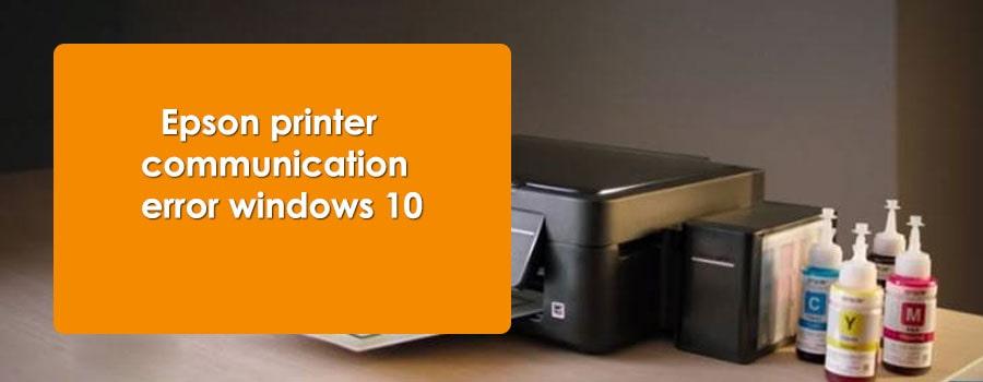 Epson printer communication error