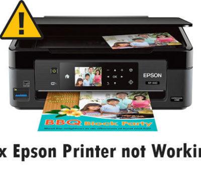 Epson Printer not Working